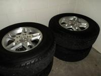 For sale is a set of 4 wheels with tires. They're from