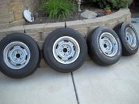 Set of four 15 X 7 GM rally wheels, wheels are a