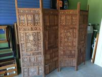Beautiful, durable wooden space divider. Would look