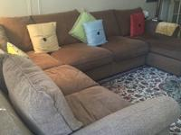 Extremely comfortable four-piece sectional couch from