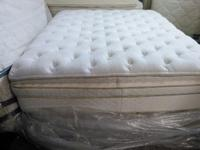 This is a one of kind pillow top double pillow on one