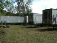 Four (4) 40ft. Semi trailers of mostly NEW construction