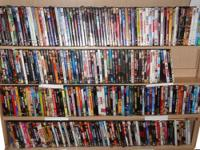 Four shelves of Personal DVDs $3 each - 10 and more $2