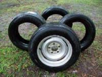 THESE ARE VERY GOOD USED TIRES..I BOUGHT THEM TO GO ON