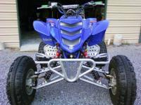 01 YAMAHA RAPTOR 686cc TRAILS or DUNES Engine: 56 hrs.
