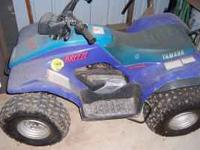 Yamaha 250 cc four wheeler. Good starter for youngster.