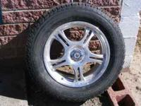 Four used winter wheels/tires off 2006 Toyota