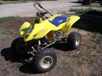 I have a 2006 Suzuki LTZ400 Quad Sport 4 wheeler for