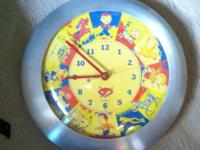 Fox Klox Novelty Child's Wall Clock. This clock is