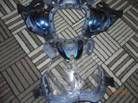 fox racing chest protector for sale size large,blue in