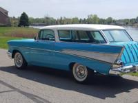 This beautiful 1957 chevy nomad under went a frame off