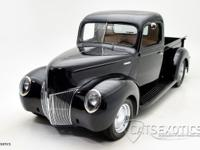 1940 Ford Custom Pickup finished in Black over Tan