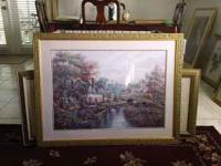 Framed art in great condition (little village creek)