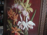 Beautiful Orchid Trio I & II Framed Art. As Seen On