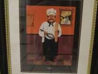 "Framed ""Chef"" picture. 21""x25"". Great conditon. Will"