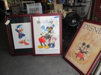 AUTHENTIC FRAMED DISNEY ART  2 PICTURES - individual or