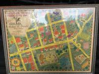 This is an Eagle Eye View of map of Weber City by (Amos