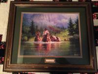 "This is a framed G. Harvey print labelled ""Morning"