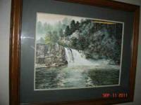 "Framed Limited Edition Lithograph ""Abrams Falls"""