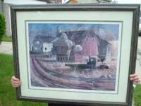 1981 Keven T Daniel print.34 x 28 1/2 inches.framed,