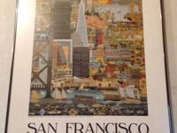 """PANORAMA OF SAN FRANCISCO"".  Cool looking framed San"