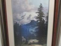This is a beautifully framed print by Dalhart Windberg