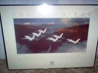 I have a metal framed poster of the Thunderbirds flying