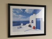 Framed wall art of Beautiful Greek Isles. Excellent
