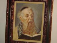 framed art rabbi / Jewish scholar portrait Fine hand