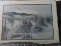 Nice matted and framed beach picture. $35.00 OBO