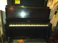 Francis Bacon piano. Needs a tuning and a dusting but