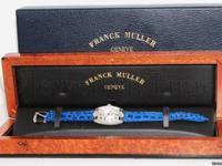Franck Muller Curvex 18K White Gold Diamond Sapphire
