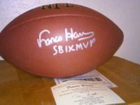 Pittsburgh Steeler great Franco Harris autographed