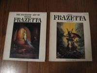 50 pages in each book of Frank Frazettas art from the