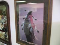 "this is a frank howell framed print ""harvest dancer""."