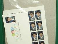 Still in the wrapper Frank Sinatra stamps first day of