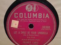 FRANKIE CARLE 78 LET A SMILE BE YOUR UNBRELLA SWEET SUE