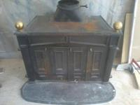 Huge Franklin Fireplace wood stove, can be utilized in
