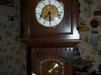 Frantz Hermle wall clock Made in W. Germany Ethan Allen