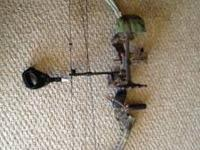 Fred bear compound bow new strings and cables hunted