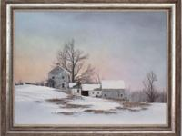 """Winter Light"" by Fred Swan, captures the charm of the"