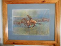 "4 NICELY FRAMED CLASSIC REMINGTON prints. 31""w by 25""h"