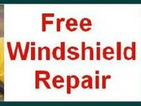 Free Auto glass Windshield rock chip and cracks repair