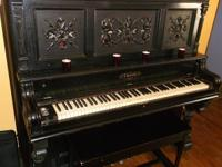 COST-FREE gorgeous antique upright piano (c. 1892)