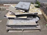 I have a few pallets of diverse granite junks.