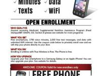 FREE SMARTPHONE FOR NEW SIGNUPS!LIFELINE PLAN &
