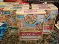 2 BOXES OF EARTHS BEST ORGANIC OATMEAL CEREAL (NOT