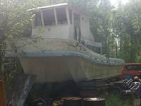 . Free 32' fishing boat, it has a durable fiberglass