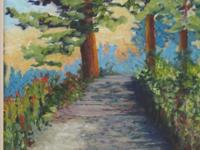 Free original landscape painting (acrylic on canvas).