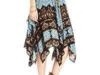 Free People's tiered ruffled skirt features a mix of